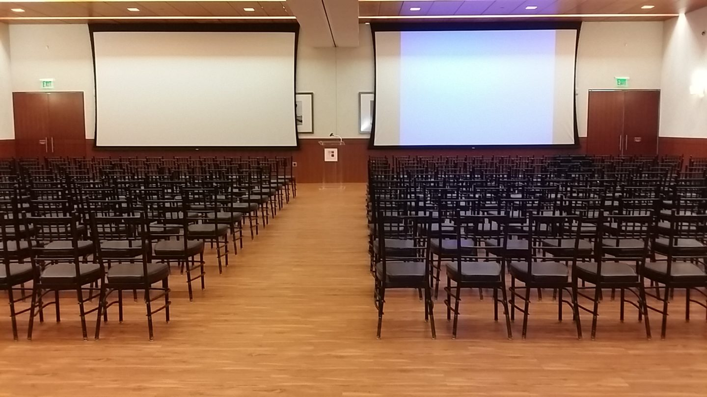 Lecture seating in Oak Rooms
